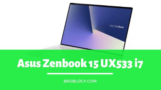 Asus Zenbook 15 UX533 i7