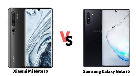 Compare Xiaomi Mi Note 10 vs Samsung Galaxy Note 10